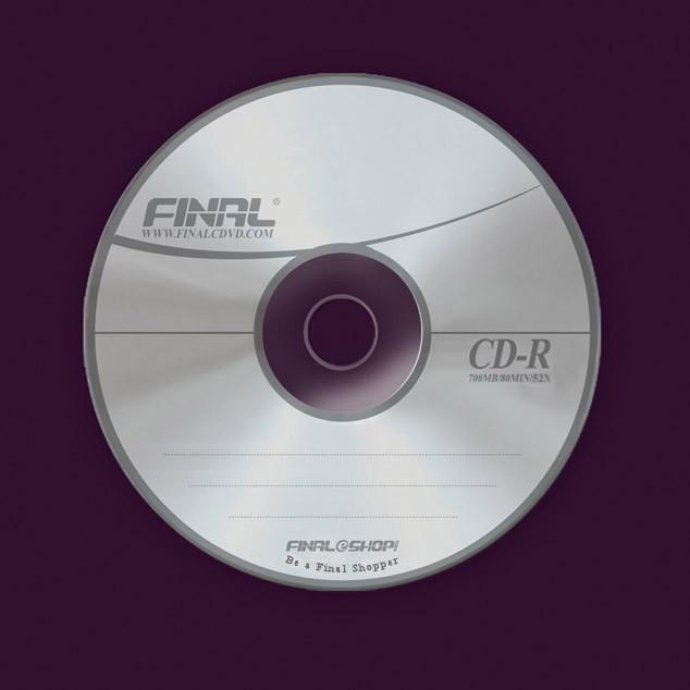 دیسک فشرده قابل ضبط (CD-R) 120 میلیمتری با ظرفیت 700 مگابایت