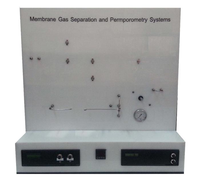 دستگاه جداسازی گازی غشایی و محاسبه توزیع اندازه حفرات سطح غشا