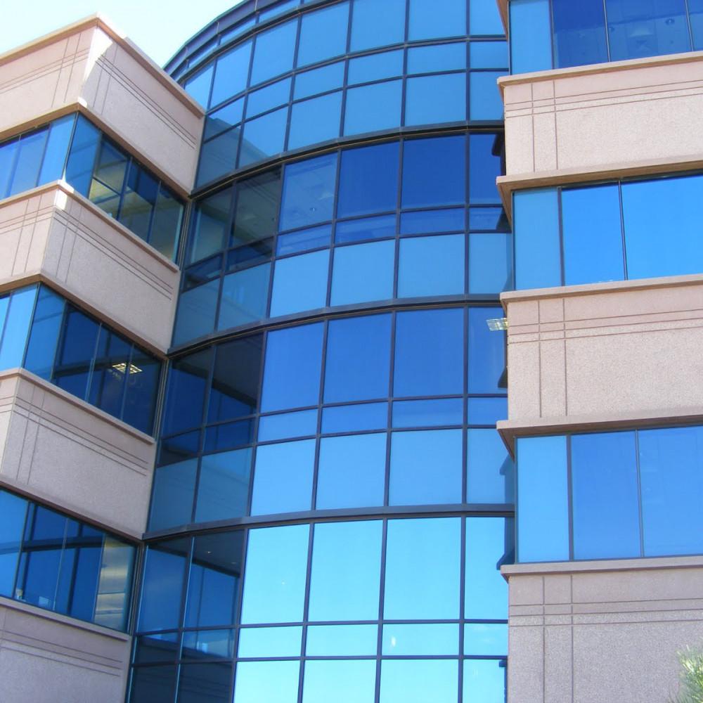 شیشه دوجداره رفلکس آبی