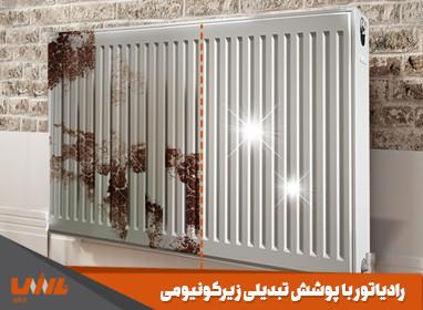 اسلاید رادیاتور با پوشش تبدیلی زیرکونیومی