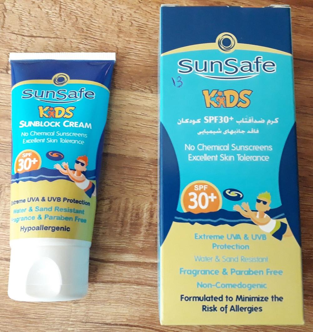 کرم ضد آفتاب کودک SPF 30 فاقد جاذبهای شیمیایی سان سیف